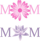 Mom Flower Vector Text Royalty Free Stock Image