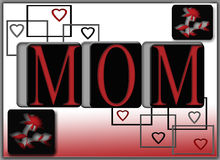 Mom Gift Mothers Day Valentine Card Poster Royalty Free Stock Photos