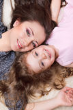 Mom and girl Stock Photography
