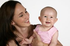 Mom & Girl Stock Images