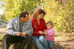 Mom, granddad and daughter Royalty Free Stock Photography