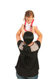Mom having fun with toddler girl Royalty Free Stock Images