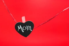 Mom Heart on Red Royalty Free Stock Photo