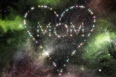 Mom Heart Stars 3D Illustration Stock Photo