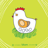 Mom hen Stock Photo