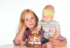 Mom and her baby Stock Photography