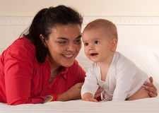 Mom and her baby son Stock Photo
