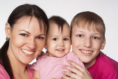 Mom and her children Royalty Free Stock Photo