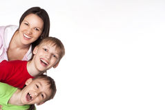 Mom with her children royalty free stock image