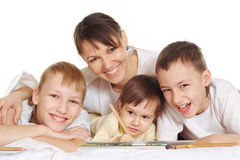 Mom with her children Royalty Free Stock Photography