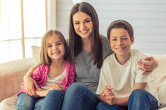 Mom and her children Royalty Free Stock Photos