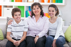 Mom with her children Royalty Free Stock Images