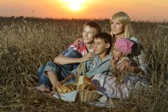 Mom with with her children Royalty Free Stock Images