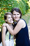 Mom and her daughter Stock Photos