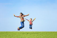 Mom and her daughter stock photography
