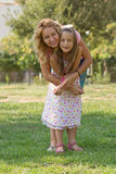 Mom and her daughter in the park Royalty Free Stock Images