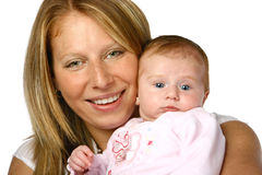 Mom with her newborn Royalty Free Stock Images