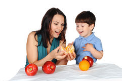 Mom and her son Stock Images