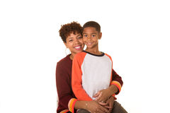 Mom and her son Royalty Free Stock Photos