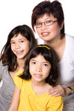 Mom with her two beautiful daughters Royalty Free Stock Image