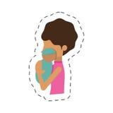 Mom holding baby newborn image. Illustration eps 10 Royalty Free Stock Images