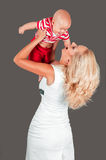 Mom holds her baby Royalty Free Stock Photography