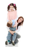 Mom hug her children. Royalty Free Stock Photos