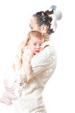 Mom hugging baby Royalty Free Stock Photography
