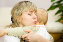 Mom hugs son Royalty Free Stock Images