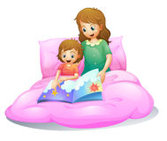 Mom and kid royalty free illustration