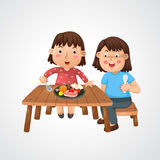 Mom and kid Stock Photography