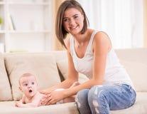 Mom and kid Stock Image