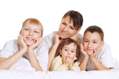 Mom with kids Stock Photo