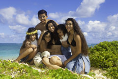 Mom and kids at beach Royalty Free Stock Photography
