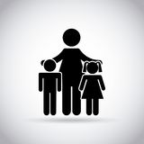 Mom and kids icon Stock Photography