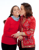 Mom kissing daughter Royalty Free Stock Photo