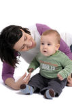 Mom and little baby boy Royalty Free Stock Photos