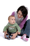 Mom and little baby boy Royalty Free Stock Image