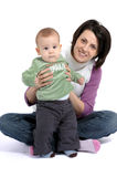 Mom and little baby boy Royalty Free Stock Photo
