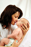 Mom and little baby girl Stock Photo
