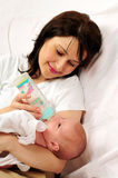Mom and little baby girl Royalty Free Stock Images