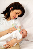 Mom and little baby girl Stock Image