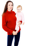 Mom and the little baby, a happy family Stock Image