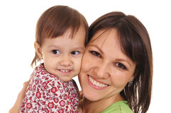 mom and little daughter Royalty Free Stock Image