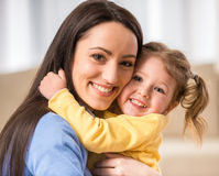 Mom with little daughter Stock Photography