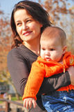Mom and little girl Stock Photo