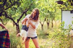 Mom and little girl having fun Stock Photo