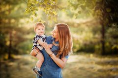 Ideal family: mother and baby royalty free stock image