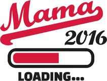 Mom 2016 loading bar german. Vector Royalty Free Stock Photography