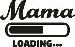 Mom loading german. Family vector Royalty Free Stock Image